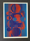 """Victor Vasarely """"IACA-C"""" Mounted Offset Color Lithograph 1971"""