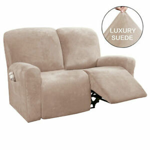 2 Seater Stretch Recliner Chair Covers Armchair Sofa Chair Cover Soft Slipcover
