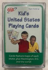 Aaa Let's Visit The 50 States Deck Educational Children Deck Maps Locations