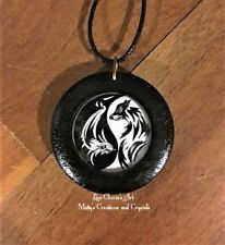 Yin Yang Dragon Wolf Pendant in Wood, Taosim, Spiritual,Symbolic Jewelry, Rustic