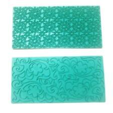 Mikiso Imprint Mat Set Gumpaste Flower Deisgn Press Mold Fondant Cake Embosser F