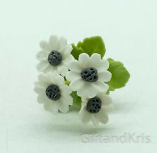 Cineraria Clay Flower Dollhouse Handmade - Fci001