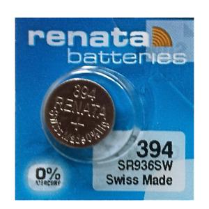 Renata 394 SR936SW 1.55V Silver Oxide Watch (1 Battery) - Made in Switzerland