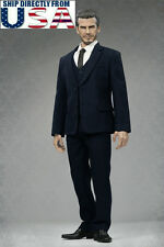"1/6 Men Business Suit Set NAVY Color For 12"" Hot Toys Phicen Male Figure U.S.A."