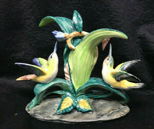 Stangl Art Pottery Hummingbirds with Flowers #3599