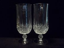 "Cristal d'Arques ""LONGCHAMP""  7-1/4"" ICED TEA GLASSES  Set of (2) -  MULTIPLES!!"