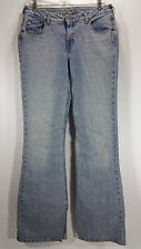SILVER Jeans Womens 31x35 Distressed Bootcut Flare Long Jeans Denim Canada