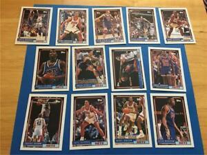 1992/93 Topps New Jersey Nets Team Set 13 Cards