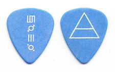 30 Thirty Seconds to Mars Jared Leto Triad Blue/White Guitar Pick - 2011 Tour