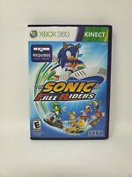 Sonic Free Riders (Microsoft Xbox 360, 2010) Complete with Manual Tested Works
