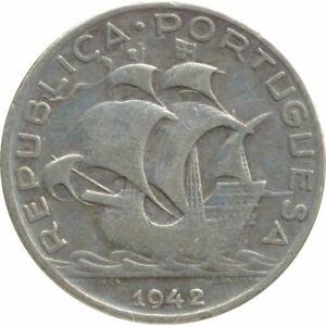 PORTUGAL 5 ESCUDOS 1942 TB+