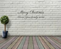 Novelty Merry Christmas Custom Text Window Sticker/Wall Sticker Xmas Decoration