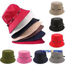 Summer Mens Women Bucket Hat Outdoor Hunting Fishing Cap Wide Brim Sun Visor Hat