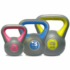 DKN Vinyl Kettle Bell Weight Set - Multicolored