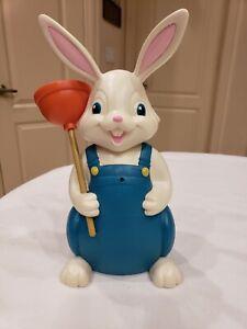 "Hallmark ""Jokin In The John"" Easter Bunny Motion Activated Talking Singing 2014"