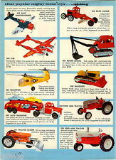 1963 ADVERT Nubley Color Toy Truck Helicopter Ford Tractor Tow Wrecker Pickup