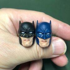 """Painted Service 1/12 Scale Batman Head Sculpt Black Blue for 6"""" Figure One:12"""