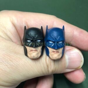 "Painted Service 1/12 Scale Batman Head Sculpt Black Blue for 6"" Figure One:12"