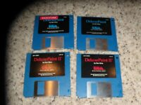 """Deluxe Paint & Deluxe Paint II for the Commodore Amiga on 3.5"""" disks"""