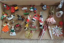 30 Vintage Antique Christmas Ornaments from 1945-1980 Mixed Lot