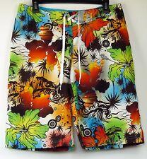Speedo Bright Tropical Floral Palm Beach Polyester Board Surf Swim Shorts 32 M