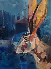 JOSE TRUJILLO Oil Painting IMPRESSIONISM 12X16 JACK RABBIT CONTEMPORARY ARTIST