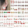 Lovely Christmas Women Jewellery Santa Claus Xmas Tree Earrings Stud Party Gifts