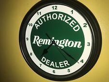 Remington Firearms Shotgun Rifles Hunting AuthDealer Man Cave Wall Clock Sign