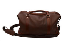 ZINT Genuine Leather Duffle Bag Travel Luggage Brown Carry On Overnight Gym
