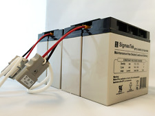Replacement for APC RBC55 Cartridge with 4X 12 Volts 18 AH SigmasTek Batteries