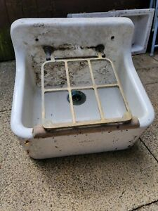 Vintage Cleaners Sink With Brass Tray