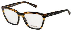 Coach Eyeglasses HC 6109 5440 52 Black Amber Glitter Varsity Stripe [52-18-135]