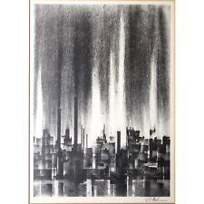 "Richard Florsheim (American,1916-1979) ""Megalopolis"", Litho, LISTED, MOMA Exhib"