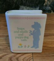 """VINTAGE """"HIS BOOK""""- PIGGY BANK - """"SNIPS AND SNAILS AND PUPPY DOG TAILS"""""""
