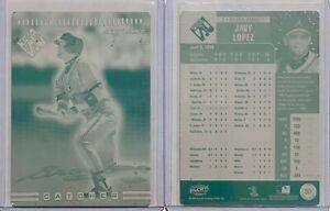 1/1 JAVY LOPEZ 1999 PACIFIC PS PRINTING PLATE CARD #39 BRAVES LOT 2 SET 1 OF 1