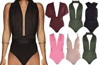 New Womens Ladies Slinky Bodysuit Do It Any Way MULTIWAY Leotard Any Style 6-14