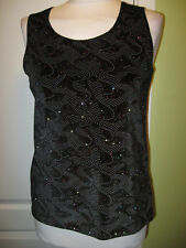 ETERNAL COLLECTION SIZE 10-12 LADIES BLACK VELVET SPARKLY TOP