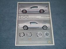 2005 American Racing Wheels Ad with Mustang GT350 Fastback 1965 Shelby