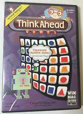 Think Ahead Games (Cd-Rom) Figural & Numeric Educational Games! Grades 3-12+