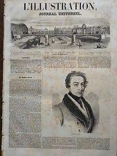 LA ILUSTRACIÓN 1845 NO 105 EL GRAN MINISTRO INGLÉS SIR ROBERT CÁSCARA