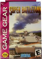 SUPER BATTLETANK jeu video tank char pour console konsole Game Gear SEGA NEUF