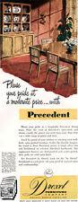 Drexel Precedent Furniture EDWARD WORMLEY Hutch DINING TABLE 1949 Magazine Ad