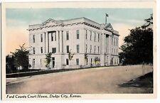 c1910 DODGE CITY Kansas Kans Ks Postcard FORD COUNTY COURT HOUSE  K237