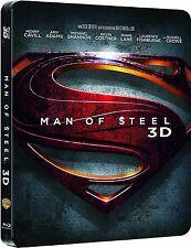 MAN OF STEEL (Henry Cavill) Blu-ray Disc 3D + 2D, Steelbook (NEU+OVP)