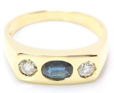 ♦♦14kt 585 Saphir Brillant Gold Ring Damen Brillantring