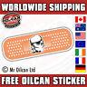 stormtrooper plaster sticker / JDM eurolook dub vag drifting, mr oilcan 110x60mm