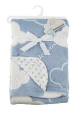 CLOUD BABY BLANKET UNISEX CLOUDS SWADDLE THROW SOFT VELOUR