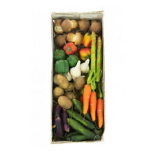Assorted Artificial Miniature Vegetable Picks on Wire Box of 48