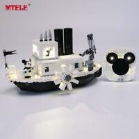 LED Light Up Kit For LEGO 21317 Ideas Steamboat Willie Lighting Set 21317 blocks
