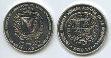 GS777 - Dominican Republic 10 Pesos 1975 KM#37 Bankers' Conference Silver